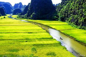 Tam Coc known as Halong inland